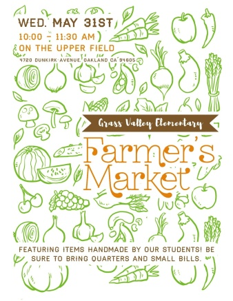 Flyer for Farmer's Market